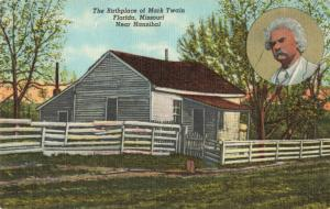Postcard Mark Twain Birthplace Florida Missouri