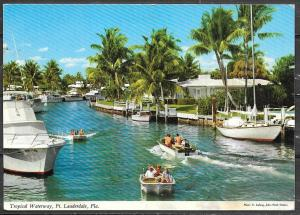 Florida, Ft. Lauderdale, Tropical Waterway, mailed in 1973
