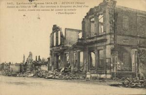 CPA Militaire (Dep.55) Revigny - Ruines de l'Hotel de Ville (91931)
