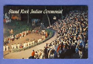 Wisconsin Dells, WI Postcard, Stand Rock Indian Ceremonial