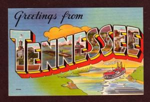 TN Greetings from TENNESSEE TENN Large Letter Postcard