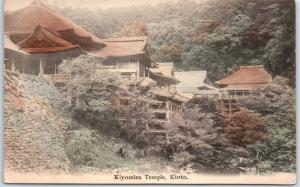 Kyoto, Japan Postcard KIYOMIZU TEMPLE Building View Hand-Colored Unused c1910s