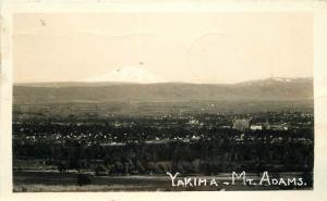 Birdseye View 1944 Yakima Washington Mt Adams RPPC real photo postcard 1979