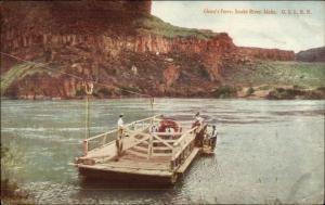 Glenn's Glenns Ferry Snake River ID Used 1907 Postcard