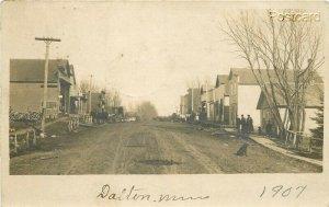 MN, Dalton, Minnesota, Street Scene, RPPC
