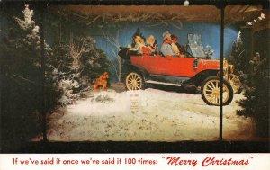 BREUNER'S Store Window Christmas Display Sacramento, CA c1950s Vintage Postcard