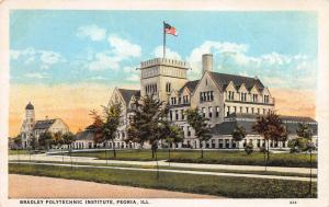 Bradley Polytechnic Institute, Peoria, Illinois, Early Postcard, Unused