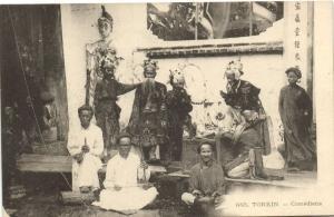 CPA Vietnam Indochine TONKIN - Comédiens (61962)