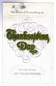 Hastings, Michigan local use Embossed 1912 Thanksgiving Postcard