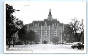 *Bessborough Hotel Saskatoon Saskatchewan Canada Car Vintage Photo Postcard C90