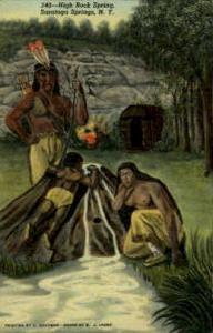 High Rock Springs, Saratoga Springs, NY, New York, USA Indian, Indians, Postc...
