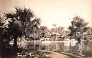 Silver Springs Florida Lake Waterfront Real Photo Antique Postcard K72688