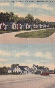 HAMPTON FALLS, New Hampshire, 1930-1940's; Evergreen Lodge And Cabins