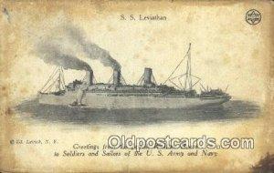 SSS Leviathan, Jewish Welfare Board Judaic Postal Used Unknown, Missing Stamp...
