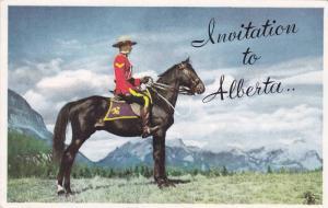 R.C.M.P.  Invitation to Alberta, Canada , 50-60s