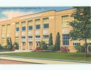 Linen HIGH SCHOOL SCENE Quakertown - Near Allentown Pennsylvania PA E2235