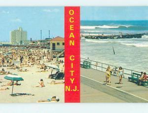 Unused Pre-1980 SCENE AT BEACH Ocean City New Jersey NJ M6867
