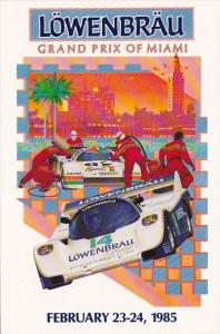 Advertising Lowenbrau Grand Prix Of Miami 1985