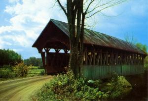 VT - Coventry. Black River Covered Bridge (Vermont)