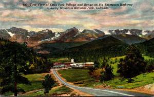 Colorado Rocky Mountains First View Of Estes Park Village