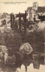 CPA La Roche Posay les Bains - L'Église et la Creuse (111647)