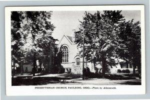Paulding OH, Presbyterian Church, Chrome Ohio Postcard