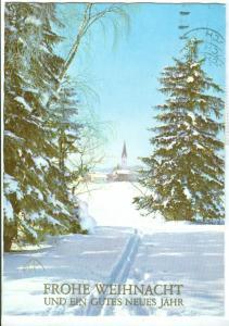 Frohe Weihnachten und Ein Gutes Neues Jahr, 1987 used Postcard