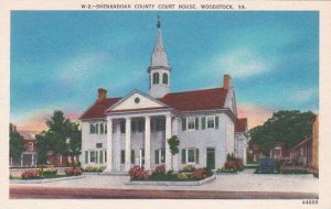 Virginia Woodstock Shenandoah County Court House