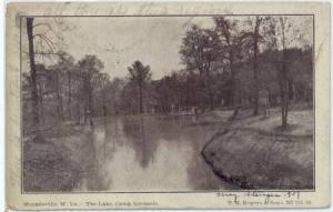The Lake, Camp Grounds, Moundsville, W. Virginia,PU- 1907
