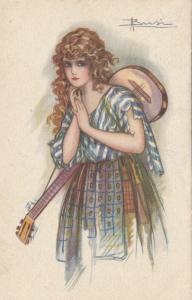 ART DECO ; BUSI ; Girl with a Guitar , 1931