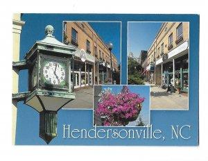 Hendersonville North Carolina Split View 4 by 6 card