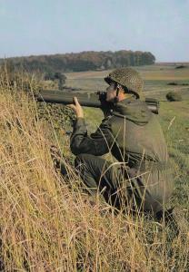 Belgium Army War M72 Law Anti Tank Weapon Rocket Launcher Postcard