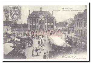 COPYRIGHT Pacy sur Eure Old Postcard Place City lhotel day march