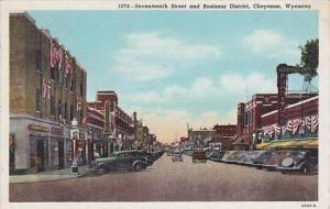 Wyoming Cheyenne Seventeenth Street Business Section