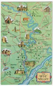 Herefordshire; The Wye Valley Map PPC By Salmon, c 1970's, Unposted