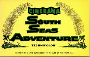 Cinerama South Seas Adventure Movie Ad 1958 Antique Hollywood Theatre  POSTCARD