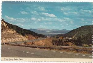 View from Raton Pass, New Mexico, used Postcard