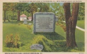 PETERSBURG, Illinois, 30-40s ; Grave of Ann Rutledge, Poem by Edgar Lee Masters