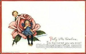 Artist Frances Brundage, Valentine, writing on back small crease left top cor...
