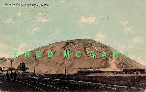 1911 Michigan City IN PC: Michigan Central RR Hauls Sand from Hoosier Slide