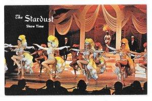 Las Vegas NV Stardust Hotel Show Time Dancers Showgirls Vintage Postcard