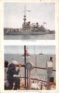 Military Battleship Postcard, Old Vintage Antique Military Ship Post Card Bat...