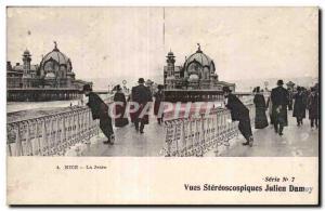 Stereoscopic Card - Nice - La Jetee - Julien Damoy - Old Postcard