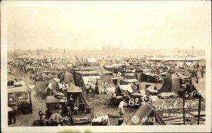 Washington DC Bonus Army BEF WWII Vets Great Depression 1932 RPPC #10