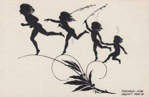 DIEFENBACH : Fantasy Silhouette , 00-10s ; Jugend I. Blatt. 19 ; White paper