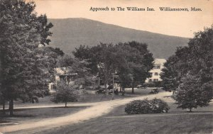 Approcah to Williams Inn, Williamstown, Massachusetts, Early Postcard, Used