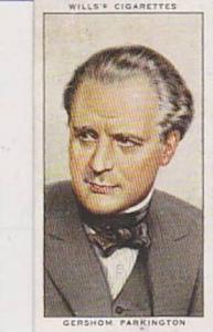 Wills Vintage Cigarette Card Radio Celebrities No 15 Gershom Parkingtpn