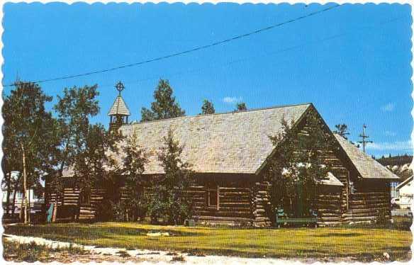 Old Log Church at Whitehorse, Yukon, Canada, Chrome