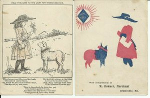 Grantsville Maryland Diamond Dyes Bowser Hold to Light Advertising Trade Card