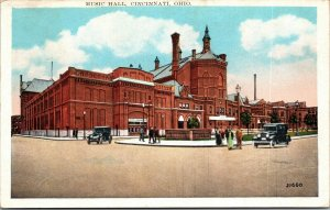 Cincinnati, Ohio, Music Hall, Washington Park - Postcard - vintage